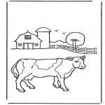 Allerlei Kleurplaten - Koe