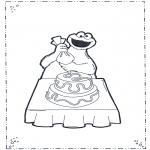Kinderkleurplaten - Koekiemonster