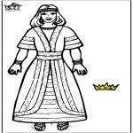 Kleurplaten Bijbel - Koningin Esther 2
