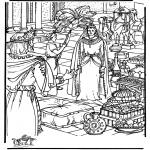 Kleurplaten Bijbel - Koningin van Sheba