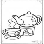 Kinderkleurplaten - Kopje thee
