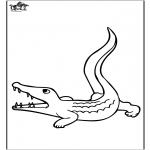 Kleurplaten Dieren - Krokodil 3