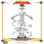 Stripfiguren Kleurplaten - Kung Fu Panda 2 kleurplaat 1