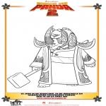 Stripfiguren Kleurplaten - Kung Fu Panda 2 kleurplaat 3
