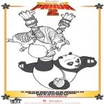 Stripfiguren Kleurplaten - Kung Fu Panda 2 kleurplaat 4