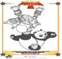 Kung Fu Panda 2 kleurplaat 4