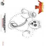 Stripfiguren Kleurplaten - Kung Fu Panda 2 - Verbind de punten 1