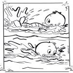 Stripfiguren kleurplaten - Kwik en Kwak