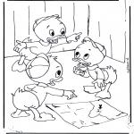 Stripfiguren Kleurplaten - Kwik, Kwek en Kwak 2