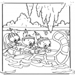 Stripfiguren kleurplaten - Kwik, Kwek en Kwak 3