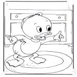 Stripfiguren kleurplaten - Kwik
