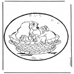 Knutselen prikkaarten - Lady en de vagebond