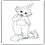 Kinderkleurplaten - Lala met konijntjes