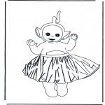 Kinderkleurplaten - Lala met rok