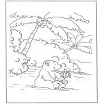 Kinderkleurplaten - Lars eet