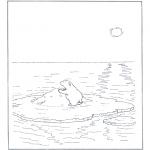 Kinderkleurplaten - Lars het kleine ijsbeertje