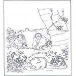 Kinderkleurplaten - Lars in het oerwoud