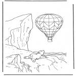 Kinderkleurplaten - Lars met ballon