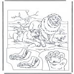 Kleurplaten Dieren - Leeuwen 1
