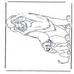 Kleurplaten Dieren - Leeuwen 5