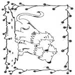 Kleurplaten Dieren - Leeuwen 6