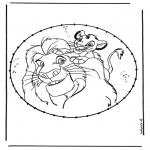 Knutselen Borduurkaarten - Leeuwenkoning