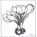 Allerlei Kleurplaten - Lente bloemen 1