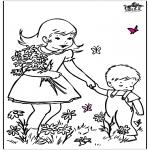 Allerlei kleurplaten - Lente bloemen 2