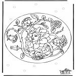 Allerlei kleurplaten - Lente Mandala