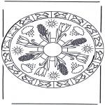Mandala Kleurplaten - Lentemandala