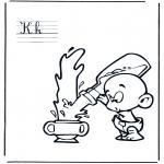 Allerlei Kleurplaten - Letter K