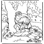 Kinderkleurplaten - Lezen 1