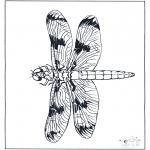 Kleurplaten Dieren - Libelle 2