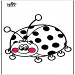 Kleurplaten Dieren - Lieveheersbeestje 3
