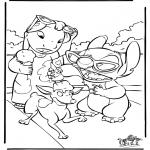 Stripfiguren Kleurplaten - Lilo en Stitch 4