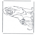 Stripfiguren Kleurplaten - Lion King 1