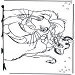 Stripfiguren Kleurplaten - Lion king 2
