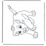 Stripfiguren Kleurplaten - Lion King Simba