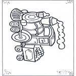 Allerlei Kleurplaten - Locomotief 2