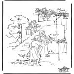 Kleurplaten Bijbel - Loofhuttenfeest