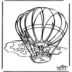 Allerlei Kleurplaten - Luchtballon