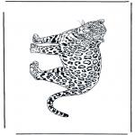 Kleurplaten Dieren - Luipaard 2