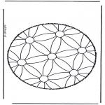 Knutselen Prikkaarten - Mandala 1