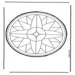 Knutselen Prikkaarten - Mandala 25