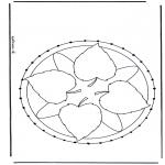 Knutselen Borduurkaarten - Mandala 27