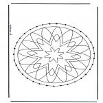 Knutselen Borduurkaarten - Mandala 29