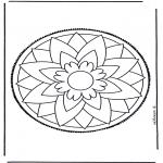 Knutselen Prikkaarten - Mandala 3