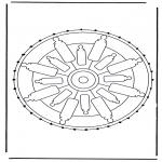 Knutselen Borduurkaarten - Mandala 32