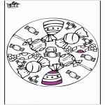 Mandala Kleurplaten - Mandala bonbons en lollies