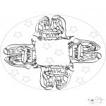 Mandala Kleurplaten - Mandala Kerstkind